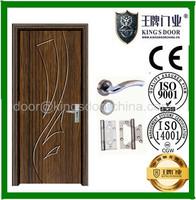 strong PVC door,double side laminate mdf pvc door
