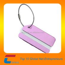 Full Color Print metal luggage tag , airplane luggage tag wholesale