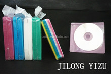Bunten non- gewebten pp 2-Disc kunststoff cd Ärmel/cd tasche rohs
