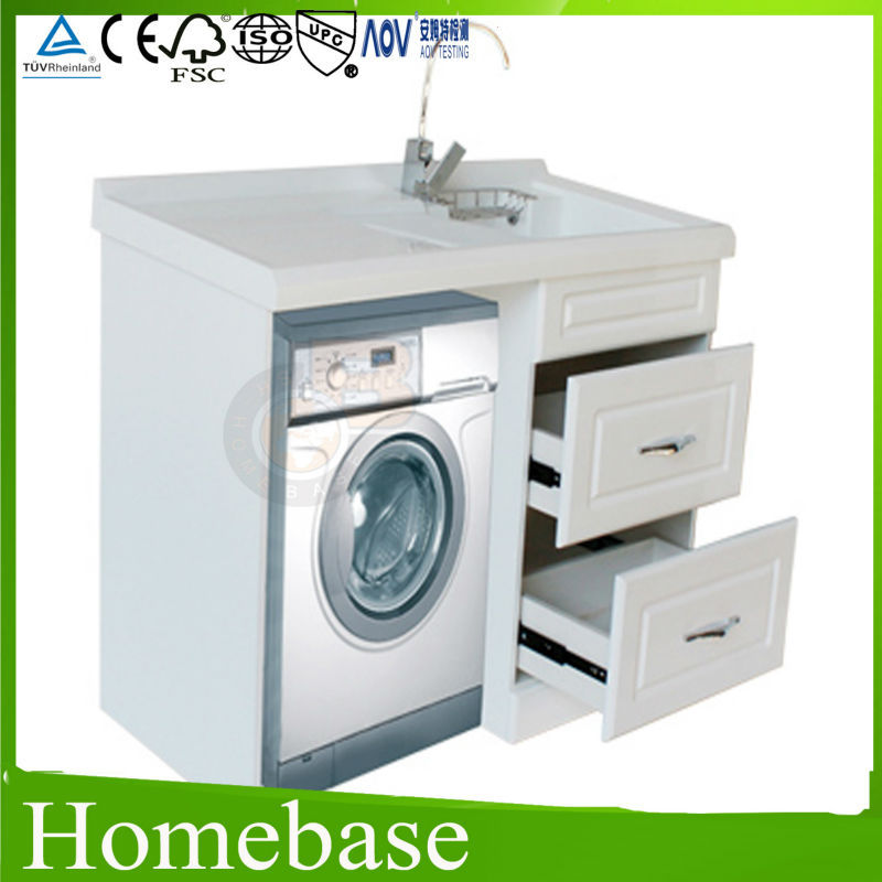 Modern bathroom vanity for washing machine cabinet for Kitchen cabinet washing machine
