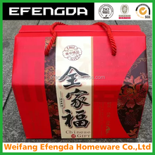 CORRUGATED WAXED FROZEN FISH PACKING BOXES WITH HANDLE