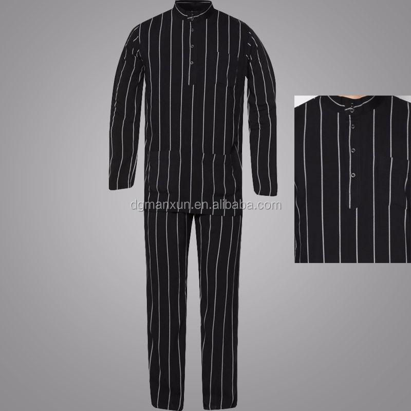 Wholesale Clothing Dubai Men Islamic Clothing Stand Collar Baju Melayu Regular Fit Jubba Photo (2).jpg