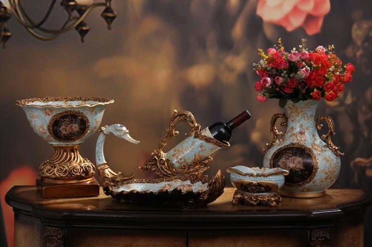 американских ретро домашнего декора керамические смолы украшения европейский винный шкаф винный холодильник мебель для гостиных