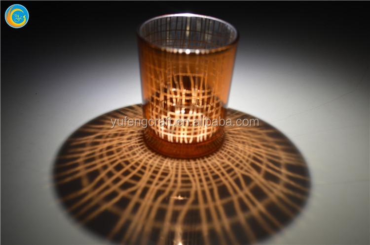 Light oro antiguo porta vasos vela vela caliente envases de vidrio ...
