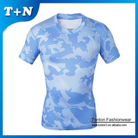 custom sublimation gym and fitness men muscle t-shirt
