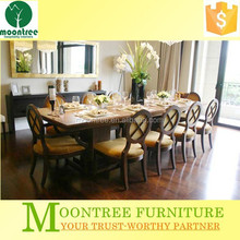 Moontree MDR-1337 antique white wooden dining room furniture