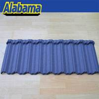 structural strength zinc coated steel roof tile slate roofing tiles, high quality sand coated metal roofing tiles