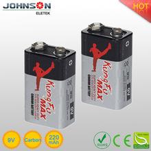 HOT SALE battery 9 volt carbon