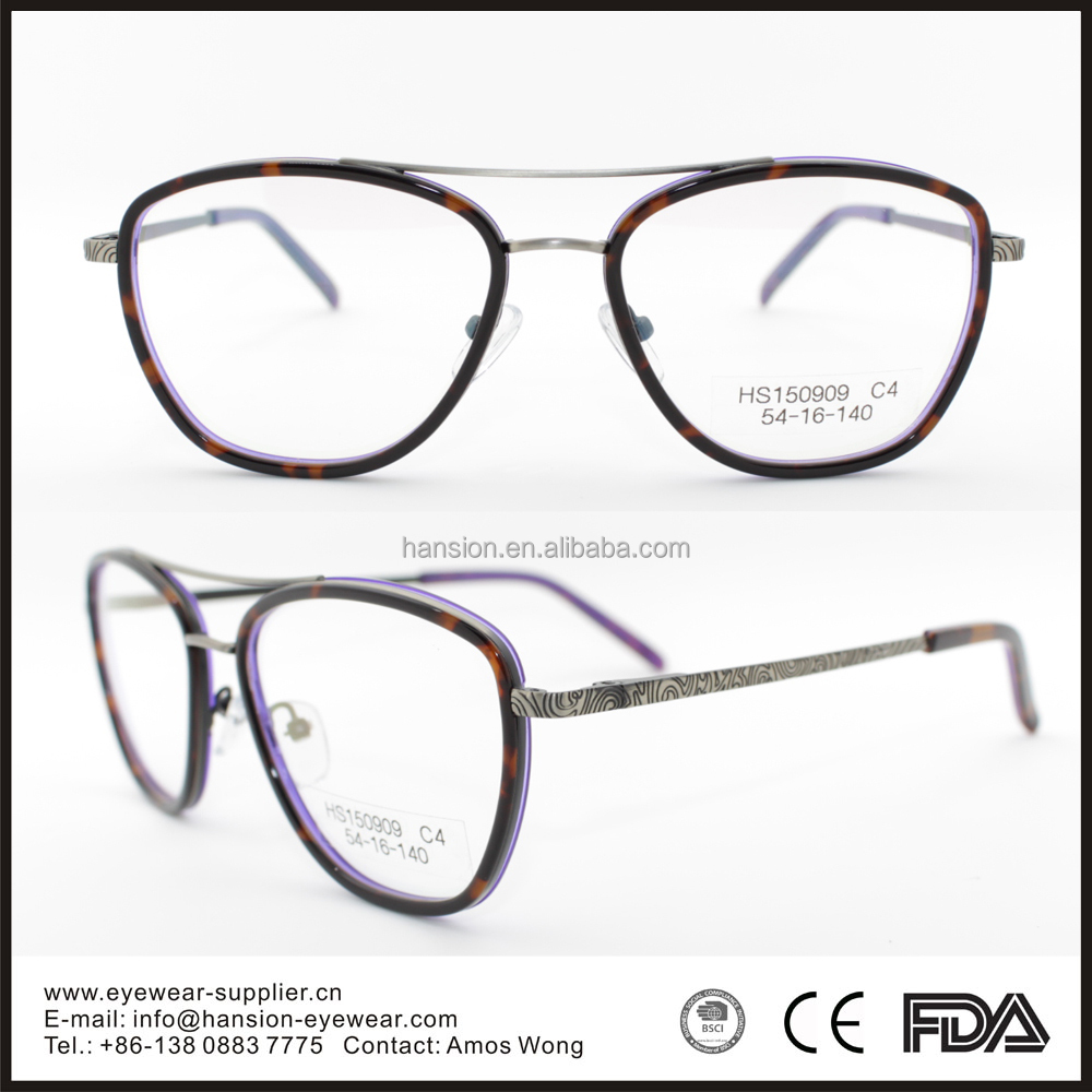 2015 popular eyeglasses frames bridge eyeglass