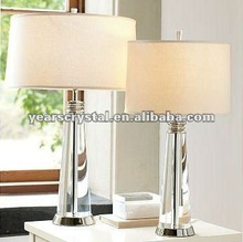 modern hotel crystal bedside table lamp