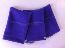 Custom blue velvet mobile phone pouches,cell phone pouches,designer cell phone pouches