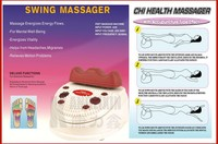 Body slim machine with pin-point foot massager function and infrared heating for improving foot blood circulations and body slim