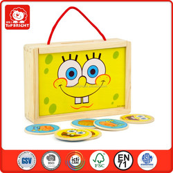 Top Bright Hot toys SpongeBob momery box educational toys for children wooden toys made in Wenzhou