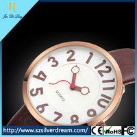 Wholesale women leather watch charming lady wrist quartz anticlockwise watch