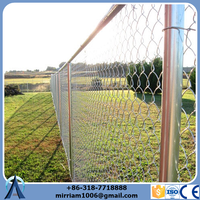 galvanized steel 11.5 gauge chain-link fence fabric (made in China)