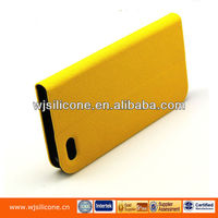 Bright orange PU flip cover for iphone 5 OEM and ODM factory customized for iphone cases