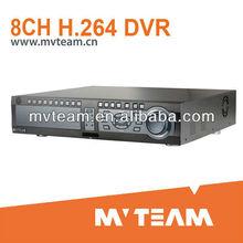 H.264 8CH Full D1 rede de segurança DVR livre servidor DDNS
