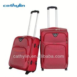 Nylon EVA luggage cheap aluminum frame carry-on luggage