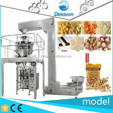 vertical puffed food packing machine chips 10 heads weigher packaging