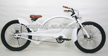 "24"" white carbon steel specalized beach cruiser chopper bicycle"