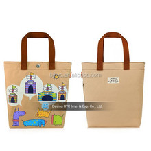 Best sealing in singapore customed printed blank canvas wholesale tote bags for shopping