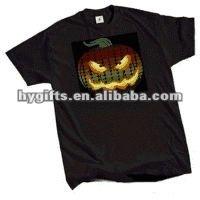 100% New Led Flashing EL T-Shirt