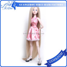 Wholesale prices heat safe kanekalon synthetic american girl doll wig, rooting doll hair, growing grass hair doll