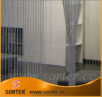 decorative aluminum link chain fly screen door curtain
