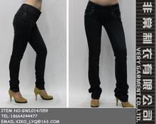 negro <span class=keywords><strong>pantalones</strong></span> de mezclilla con abalorios de decorar recta <span class=keywords><strong>pantalones</strong></span> <span class=keywords><strong>vaqueros</strong></span> de mujer