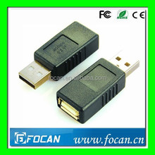 ROHS Certification Nickel plated USB2.0 AF to AM adapter