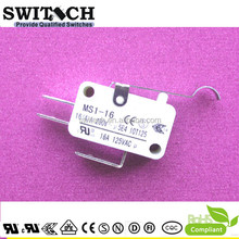 16A 125VAC good quality omron equivalent micro switches KW3A Arc Lever Free Samples