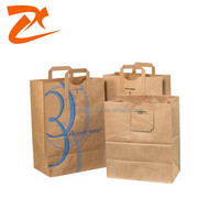 Flat Handle Grocery Paper Bag, brown paper bags with handles