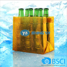 promotional pvc 6-pack beer bottle cooler wine bottle carrier