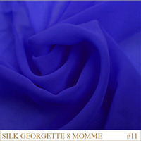 Silk Georgette Fabric 8momme 114cm Width 100% pure china silk fabric Manufacturer Blue