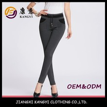 high quality comfortable vertical stripe casual pants lady