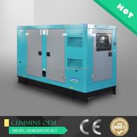 6 cylinders soundproof type 200KW generator diesel for sale, 250 kva Shangchai engine silent diesel generator