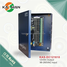 16 channel 10amps switching ac to dc cctv power supply boxed