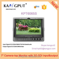 KPT6065S 7 inch Camera-top Monitor with 3G-SDI input&output