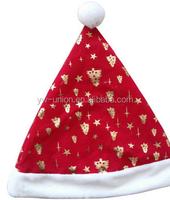 Plush Polar Bear Christmas Decoration snata claus hat cap Toy Stuffed Animal christmas animated musical toys