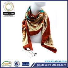 Hot Sale Ladies Silk Neck Scarf Plain Handkerchief Muslim Hijab Best Quality