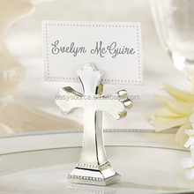 Wholesale name card clip party and event supplies cross shape wedding Place seat card holder table decoration