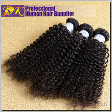 wholesale best quality long length virgin remy unprocessed natural color hair weft 100% virgin mongolian kinky curly hair