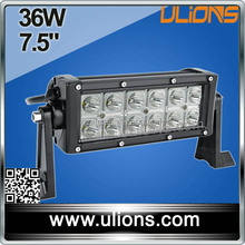 high quality 7.5 inch with spot flood combo beam CE / ROHS / big promotion 4X4 double row led light bar 36w