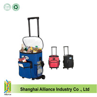 US Market High Quality Large Trolley Cooler Bag For Foods Or Cans