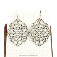 Art Silver Hot Sale Accessories Filigree Earrings