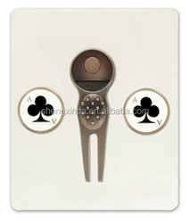 2015 hot sailing creative clubs golf divot tool with ball marker for golf equipment