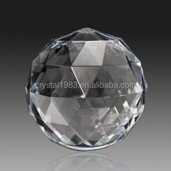 Wholesale k9 glass crystal etched diamond cut engraved paper weight factory crystal ball paperweight