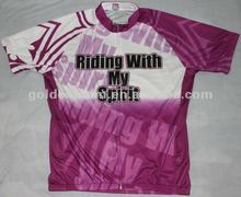 2012 OEM Sublimation V neck with Collar T-shirt