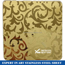 China supplier 201 0.3mm color stainless steel wall decoration plate with free sample