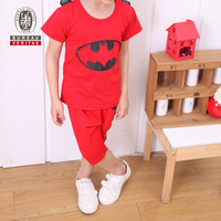 Kids boys clothes 2013 real bat pattern traditional baby boy clothing sets